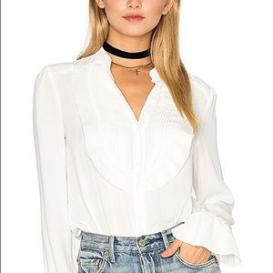 free people ruffled flutter sleeeve top